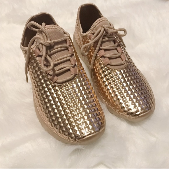 Rose Gold Sneakers - Female